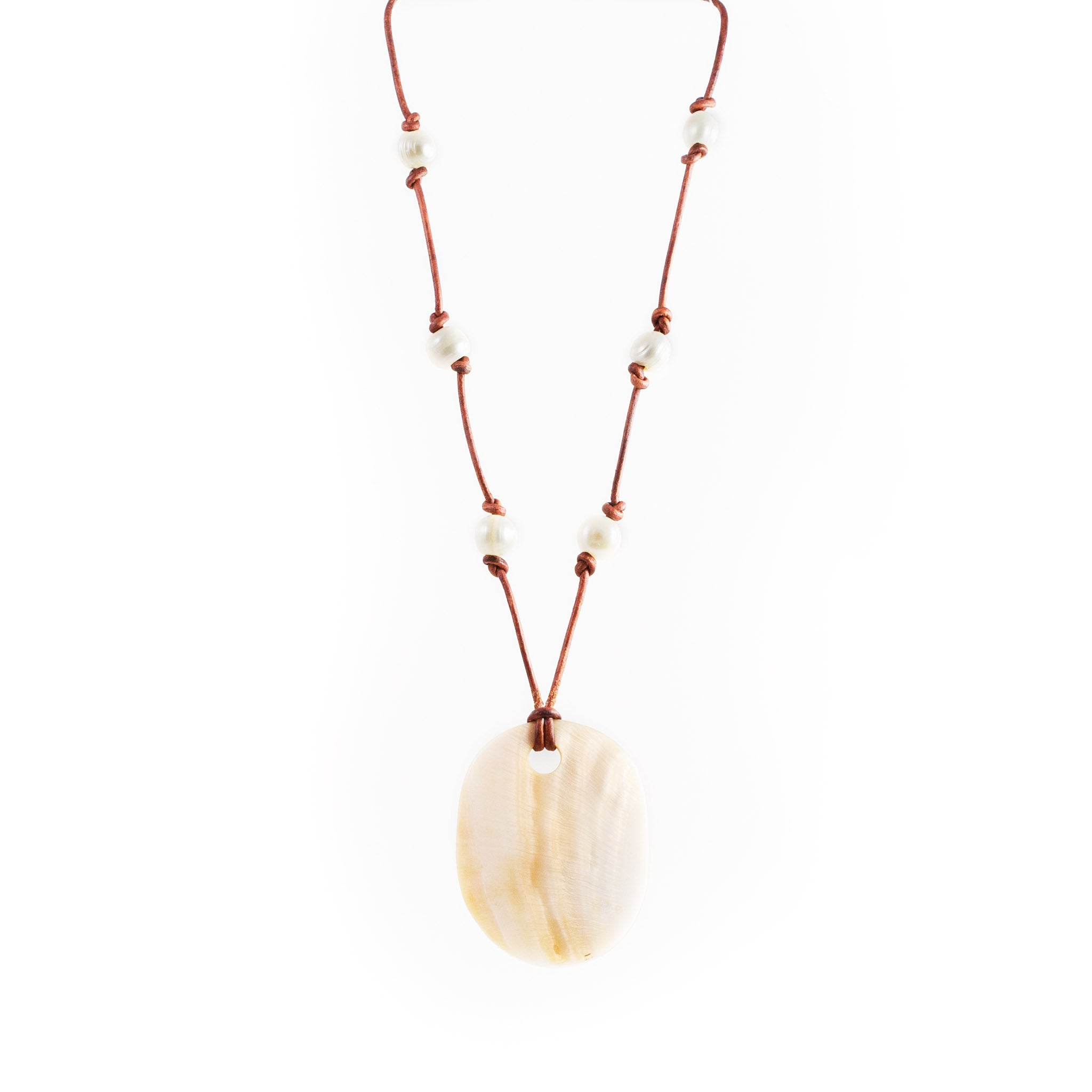 Nature Mother of Pearl Pendant Necklace