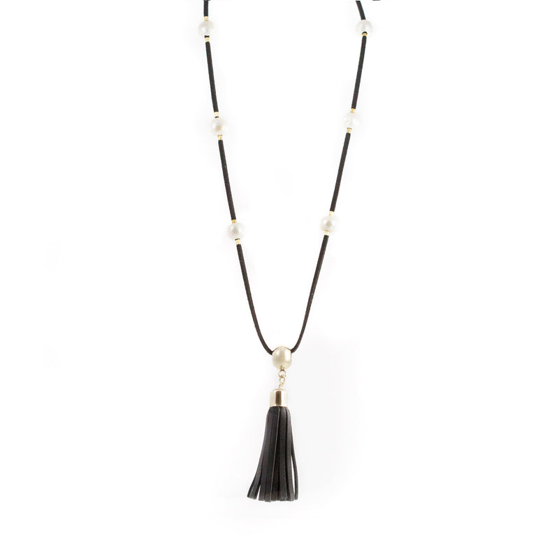 Helen Freshwater Pearl and Tassel Pendant Necklace