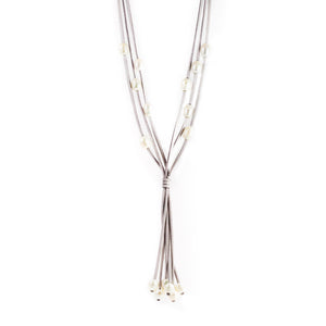 Lucero Gray Freshwater Pearls Long Necklace