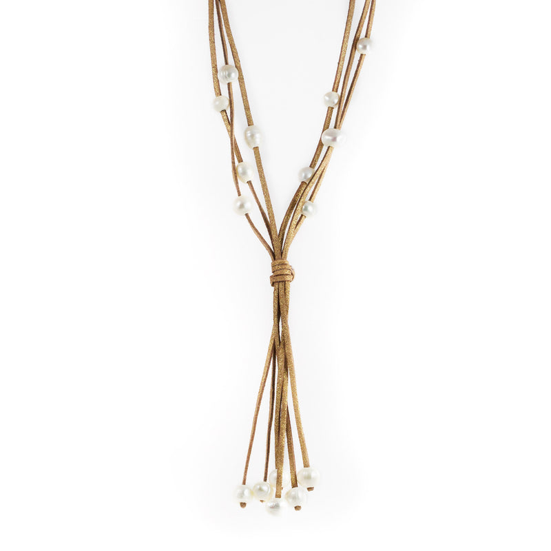 Lucero Brown Freshwater Pearls Long Necklace