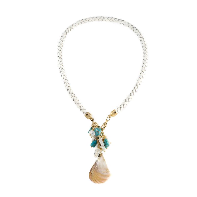 Windsor Turquoise and Mother of Pearl Necklace