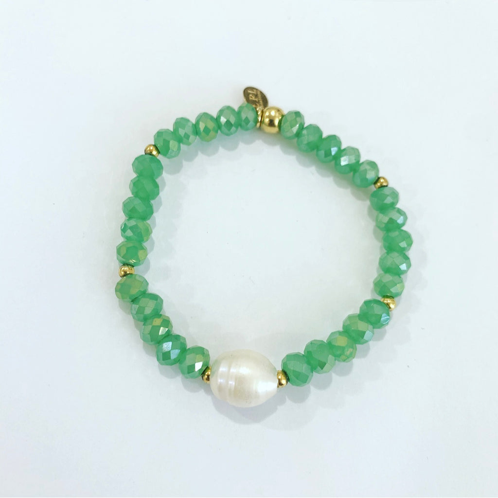 Light Green Crystals  Bracelet