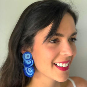 Megan  Earrings Blue
