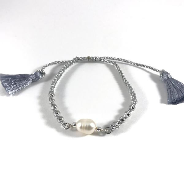 Maria Freshwater Pearl and Cord Bracelet