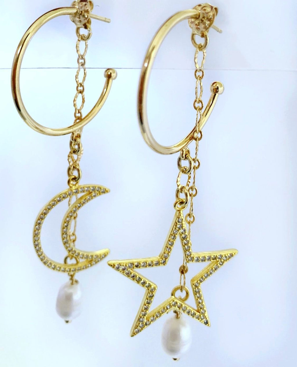 Constellation  Hoops Earrings