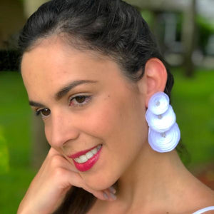 Megan  Earrings White