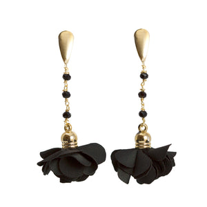 Ale Black Flower Earrings