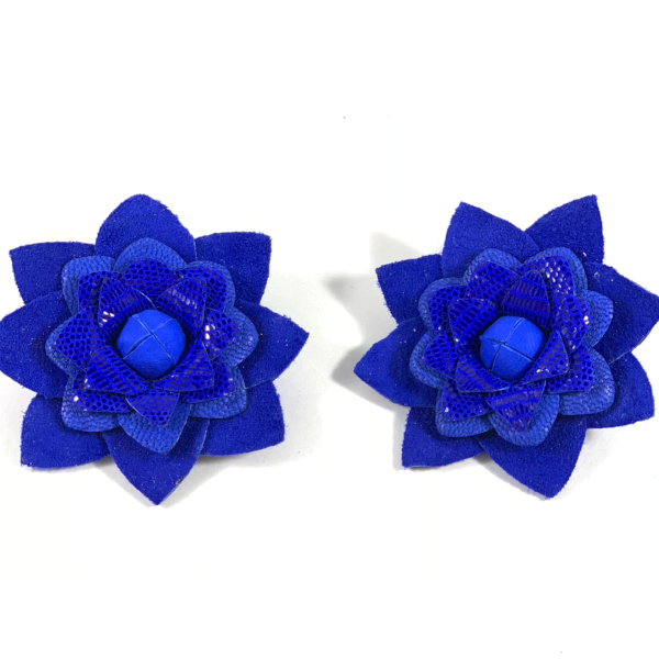 Silvia Flowers Royal Blue Earrings