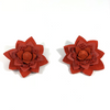 Silvia Flowers Red Earrings