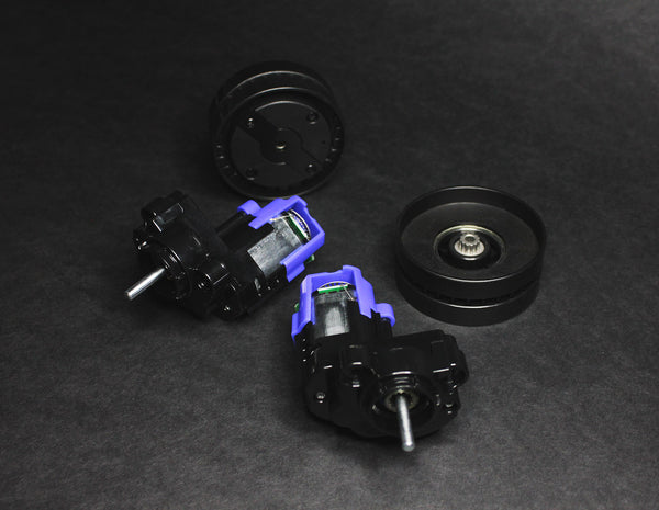 Replacement Drive Motors w/Gearboxes & Drive Wheels