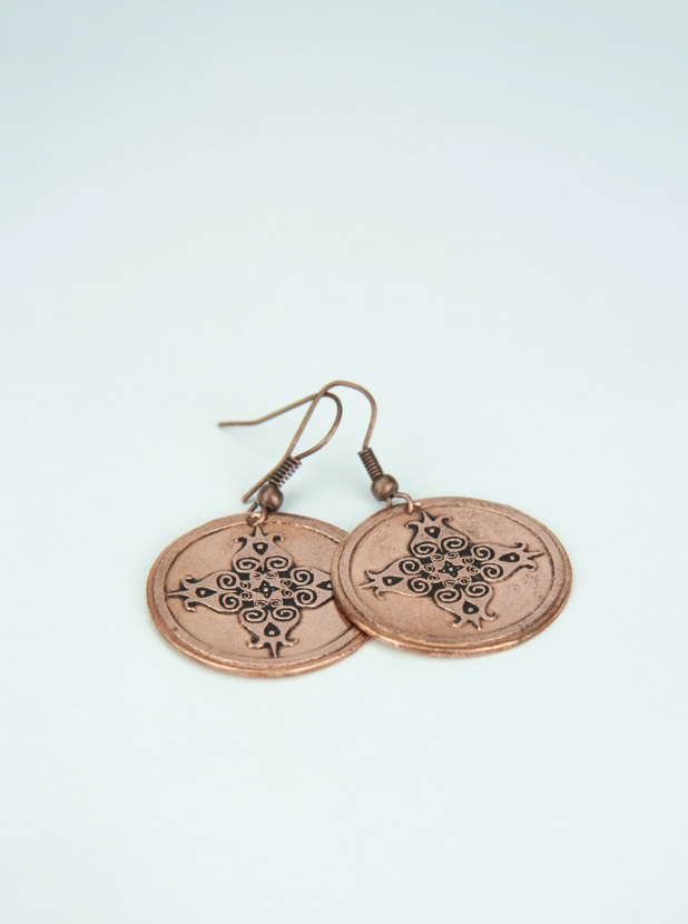 Copper Earring