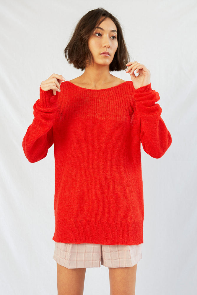APARTMENT SWEATER . Cherry