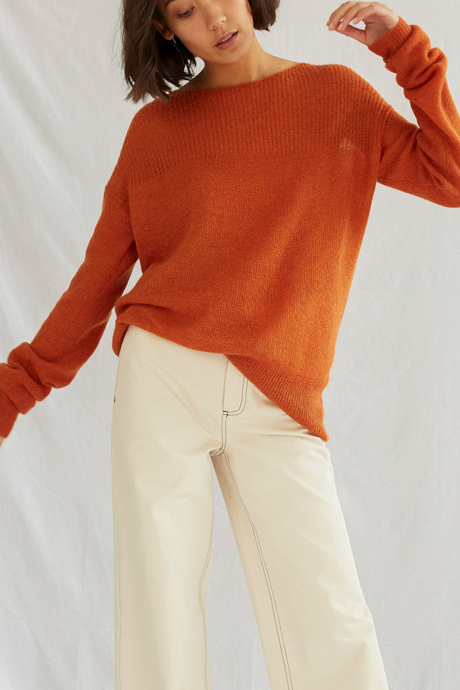 APARTMENT SWEATER . Moroccan Orange