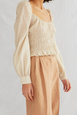 CROSBY BLOUSE . Cream Check