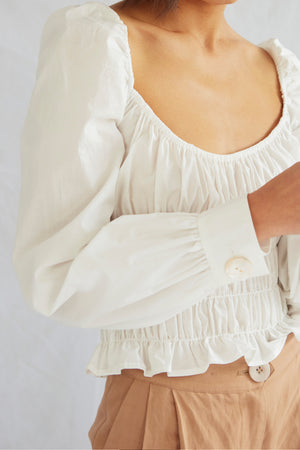 CROSBY BLOUSE . White