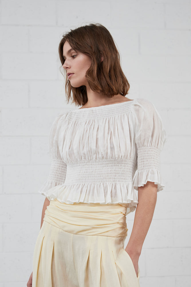 ISLA TOP . white cotton