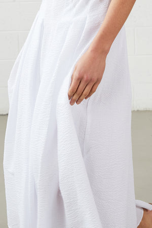 VELA DRESS . WHITE COTTON