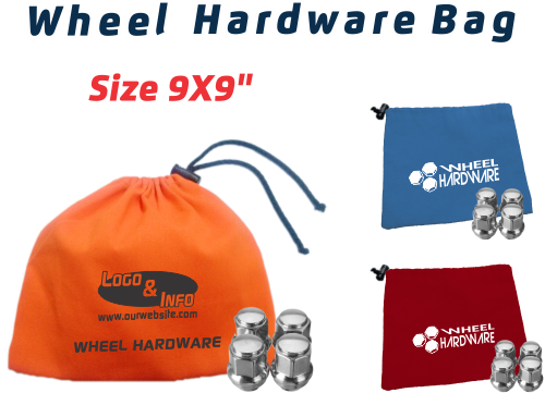 "Polyester Fabric Wheel Hardware Bag (9x9"")"