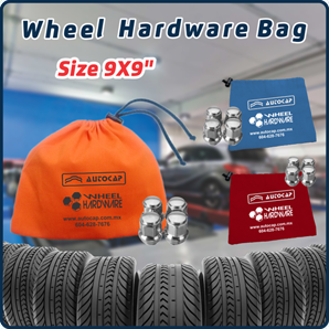 "Polyester Fabric - Wheel Hardware Bag (9.0"" x 9.0"")"