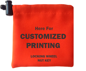 Customized Wheel Lock Key Bags