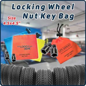 Polyester Fabric - Wheel Lock Key Bags / Locking Wheel Nut Key Bags