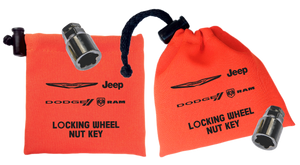 Chrysler - Orange - Locking Wheel Nut Key Bag