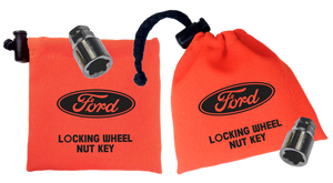 Ford - Orange - Locking Wheel Nut Key Bag