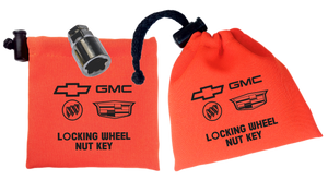 GM - Orange - Locking Wheel Nut Key Bag