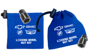 GM - Blue - Locking Wheel Nut Key Bag