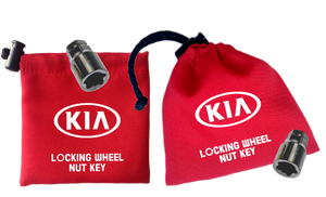 KIA - Red - Locking Wheel Nut Key Bags