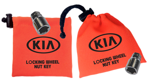 KIA - Orange - Locking Wheel Nut Key Bags