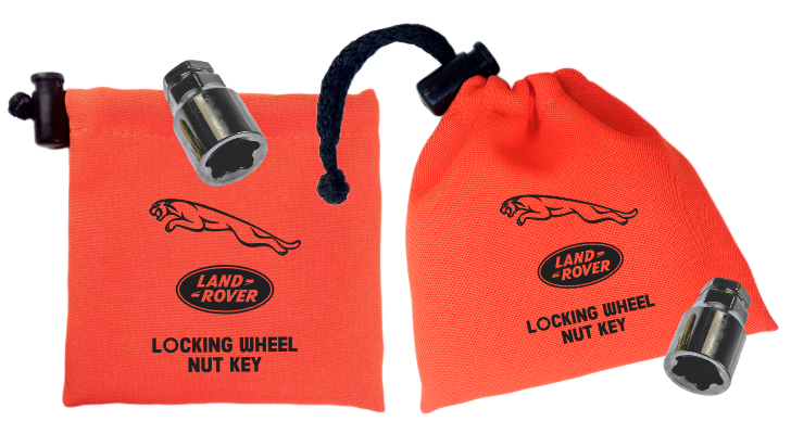 Land Rover / Jaguar - Orange - Locking Wheel Nut Key Bags
