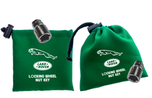 Land Rover / Jaguar - Green - Locking Wheel Nut Key Bags