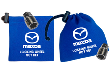 Mazda - Blue - Locking Wheel Nut Key Bags