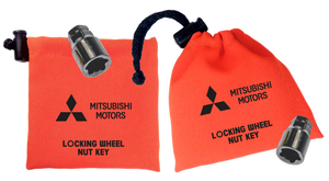 Mitsubishi - Orange - Locking Wheel Nut Key Bags