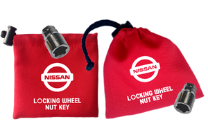 Nissan - Red - Locking Wheel Nut Key Bags