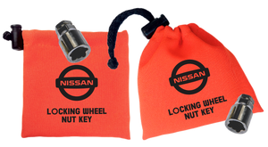 Nissan - Orange - Locking Wheel Nut Key Bags