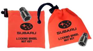 Subaru - Orange - Locking Wheel Nut Key Bag