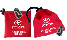 Toyota - Red - Locking Wheel Nut Key Bags