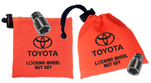 Toyota - Orange - Locking Wheel Nut Key Bags