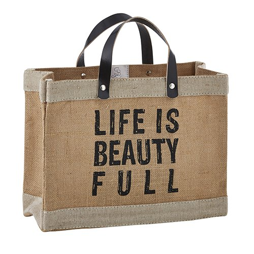 "Farmer's Market Mini-Tote  ""Life is Beauty Full"""