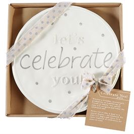 "Mud Pie ""Celebrate You"" Plate"