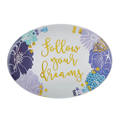 "Bouquet Paperweight   ""FOLLOW YOUR DREAMS"""