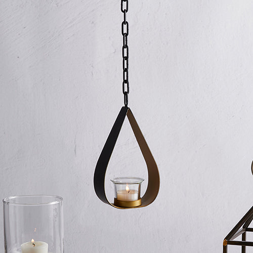Hanging Teardrop Metal Candle Holder