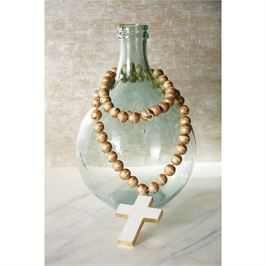 Mud Pie Decor Beads with Marble Cross