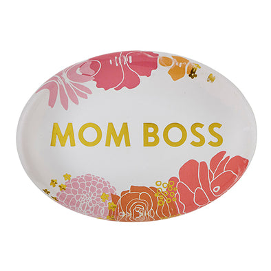"Bouquet Paperweight   ""MOM BOSS"""