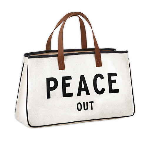 "Canvas Tote ""Peace Out"""