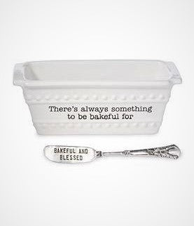 "Mini Loaf Dish Set ""There's Always Something to be Thankful For"""
