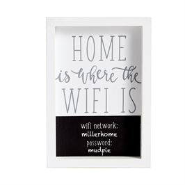 "Mud Pie WIFI Framed Sign ""Home is Where the WIFI Is"""