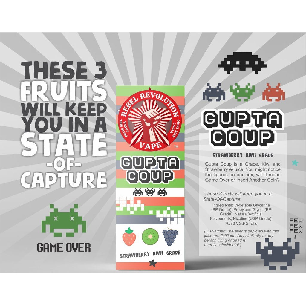 Rebel Revolution Vape - Gupta Coup MTL 30ml